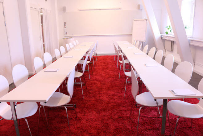 Himmelriket meeting room in board room seating set up.