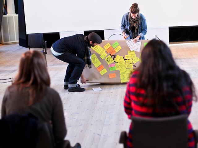 A community filmmaking workshop in Loftet in 2010.