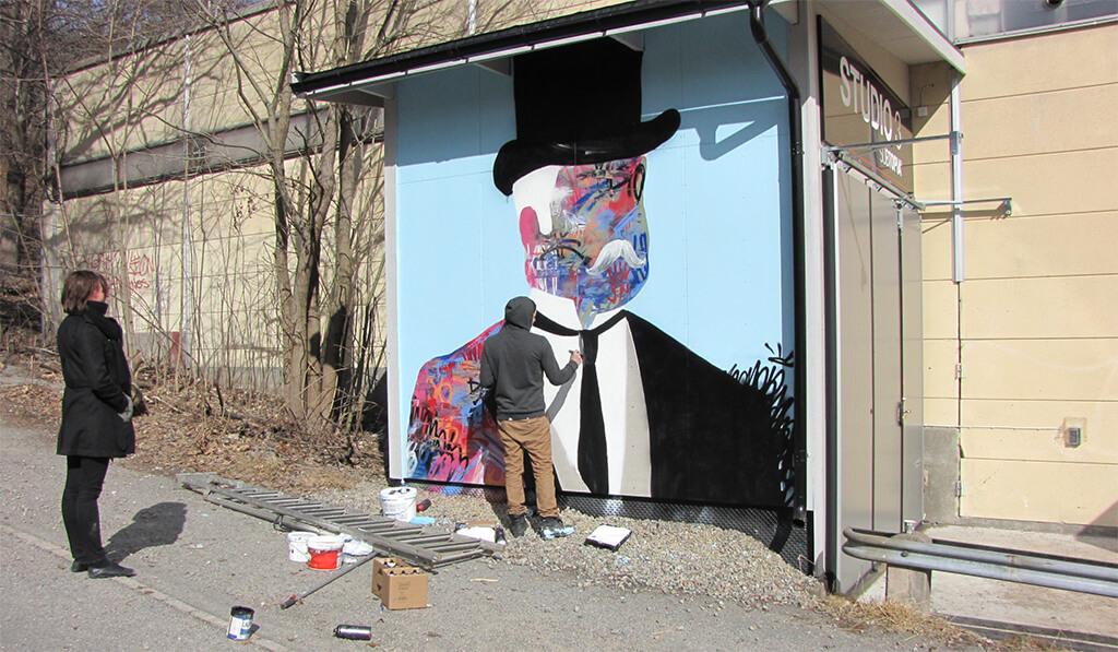 Shai Dahan målar Subtopia