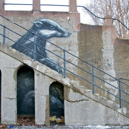 Art by ROA in the Subtopia area. Photo ETC.
