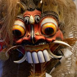 En läskig mask