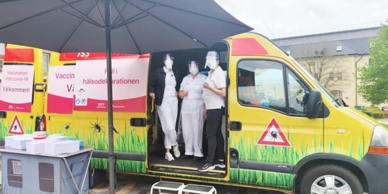 Vaccinationsbuss 3 dagar i veckan på Subtopia